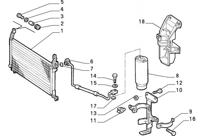 Condensatore condizionatore FIAT Brava 1995/1998 Bravo