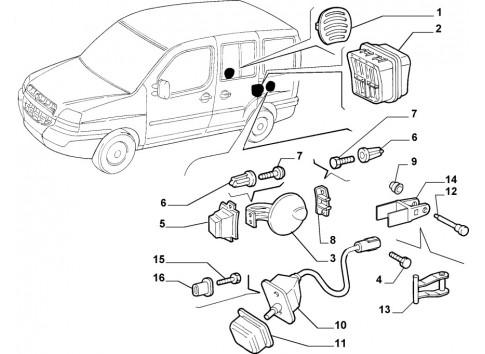 Scontrino serratura FIAT Punto1999/2010 ALFA 159 2005/2008