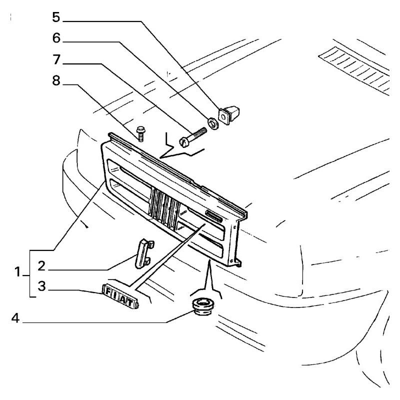 Griglia radiatore FIAT Uno CS 1988/1990 Fiorino 1991/1993