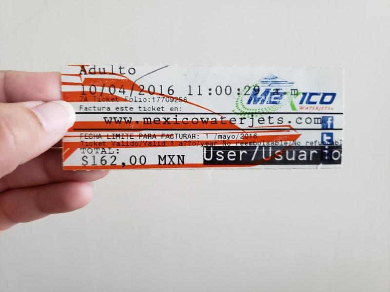 ticket para ir de playa del carmen a cozumel
