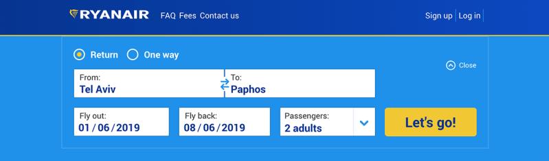 Comprar passagem low cost na Ryanair 00001