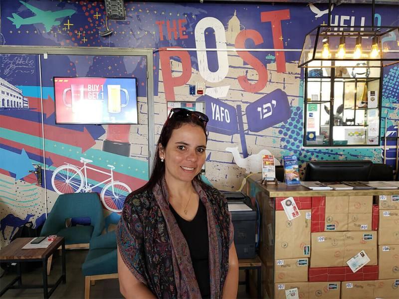onde ficar em Jerusalém - Recepção do The Post Hostel