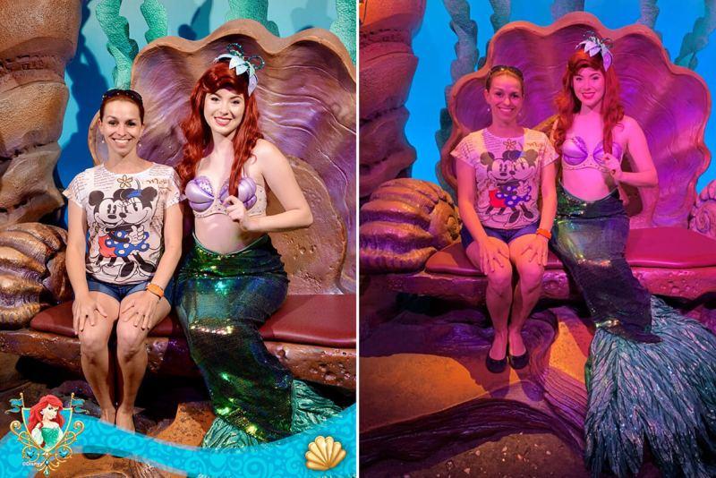 Comparativo de foto com o Memory Maker Disney/ Photopass e Celular