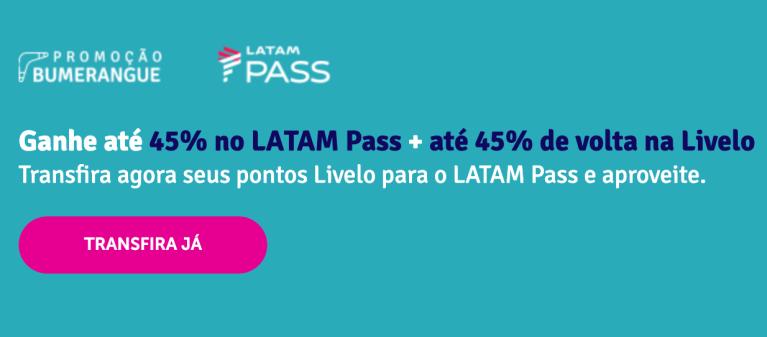 Promoção Livelo e Latam Pass -