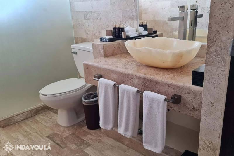 banheiro do hotel resort 5 estrelas