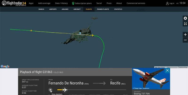 Qual lado sentar no avião para Fernando de Noronha