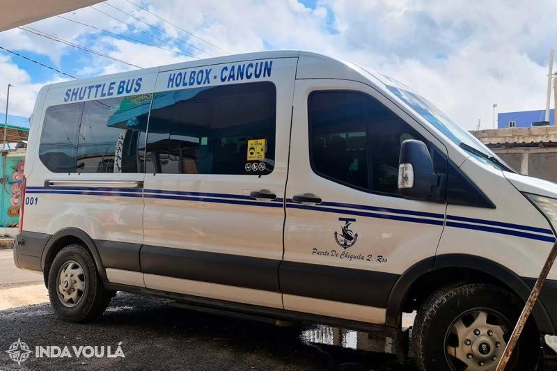 Collectivo ou van, de Chiquilá a Cancun ou Playa del Carmen no México