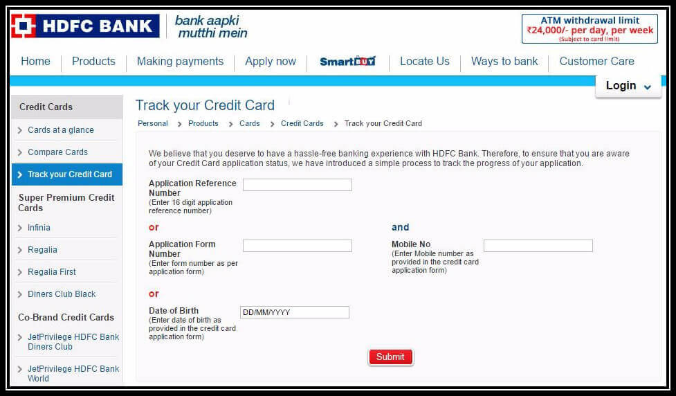 HDFC Credit Card Status: How to Track HDFC Card Application