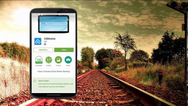 Register for IOB Mobile Banking