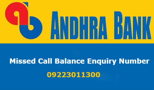 Andhra Bank Account Balance Enquiry and Mini Statement Toll Free Number