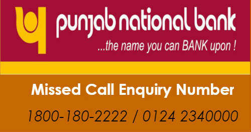 punjab national bank account balance enquiry