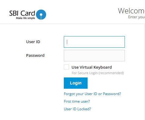view sbi card statement online