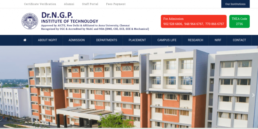 Dr NGP Institute of Technology