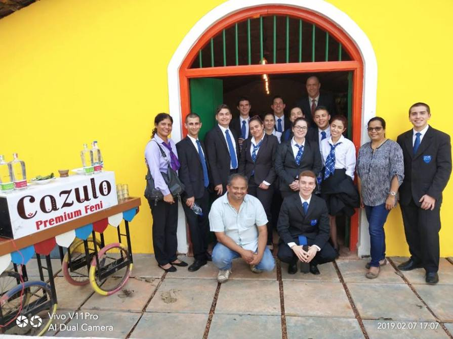Students from Portugal visit the Goa Marriott Resort & Spa.