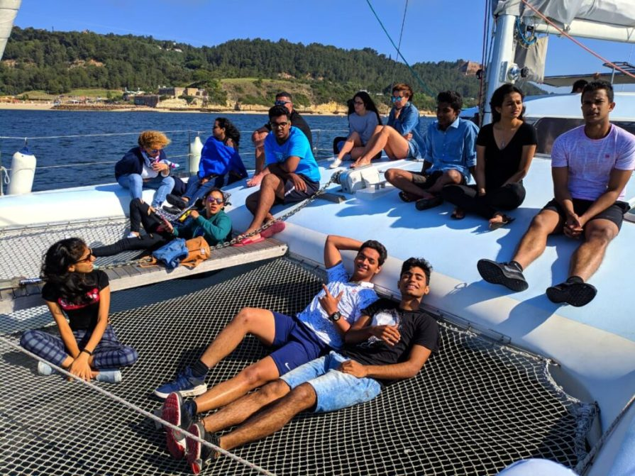 Picture of VMSIIHE students site-seeing Portugal as part of the Portugal Exchange Programme