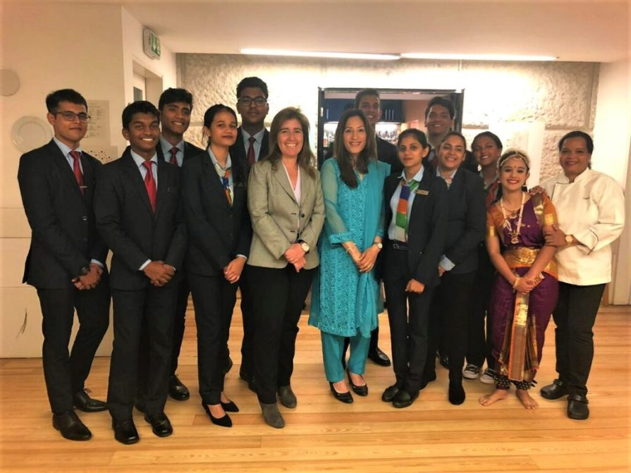 VMSIIHE Students along with the Indian Ambassador of Portugal