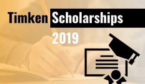 Timken Scholarships Scheme for Engineering, Diploma, ITI and B.Sc Nursing Courses 2019