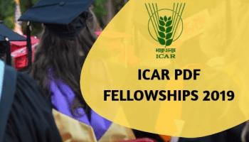 ICAR Post-Doctoral Fellowship (PDF) Scheme 2019 – Application, Dates