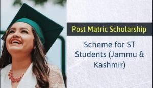 Post Matric Scholarship Scheme for ST Students of Jammu/Kashmir 2019-20