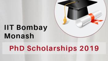 IIT Bombay Monash Research Academy PhD Scholarships 2019