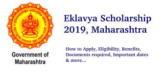 Eklavya Scholarship 2019-20, Maharashtra