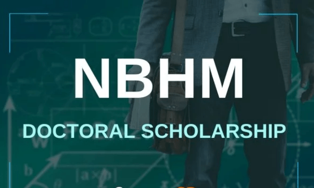 NBHM Doctoral Scholarship Scheme 2020, Eligibility, Application, Dates