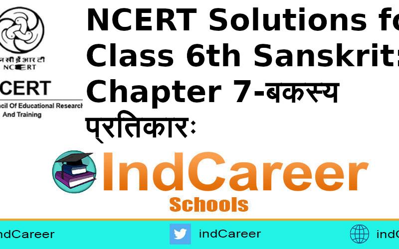 NCERT Solutions for Class 6th Sanskrit: Chapter 7-बकस्य प्रतिकारः