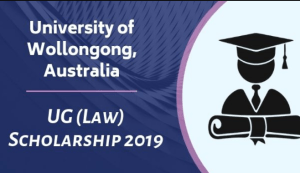 University of Wollongong Australia UG (Law) Scholarship 2019