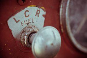 Antique Fuel pump in red