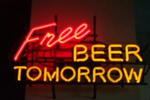 gratis bier
