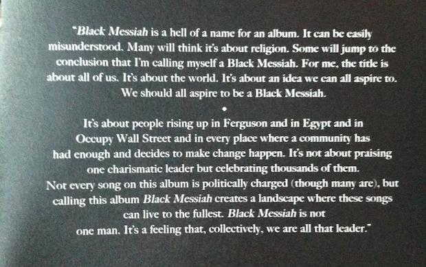 D' Angelo Black Messiah