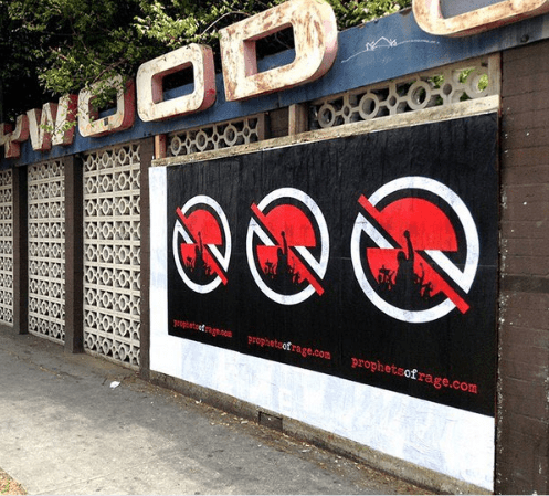 Rage Against The Machine posters in Los Angeles
