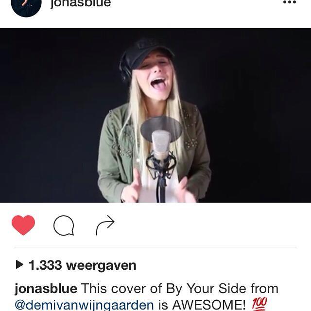Jonas Blue By My Side Cover Demi van Wijngaarden