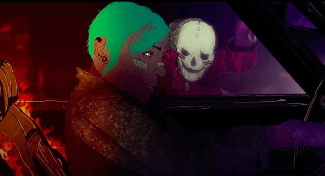 Animated Skull Wallpaper Queens Of The Stoneage Haunting Short Animated Film To