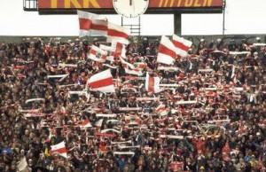 Ajaxfans in het Olympisch Stadion