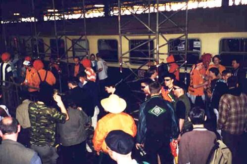 Aankomst op Bahnhoff Krefeld