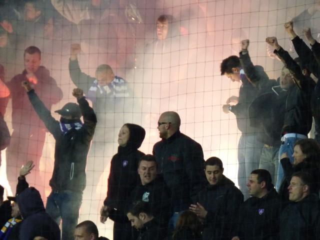 Pyro op de harde kern van NK Maribor
