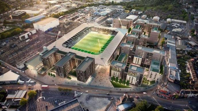 Plan nieuw stadion