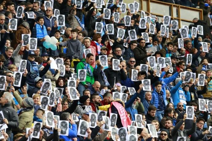 Actie voor Kalidou Koulibaly van Napoli supporters