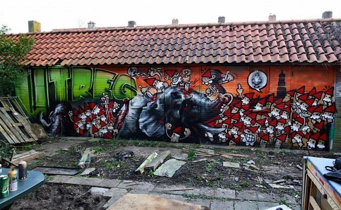 Ludieke Graffiti oorlog: Ollie wordt opgevreten