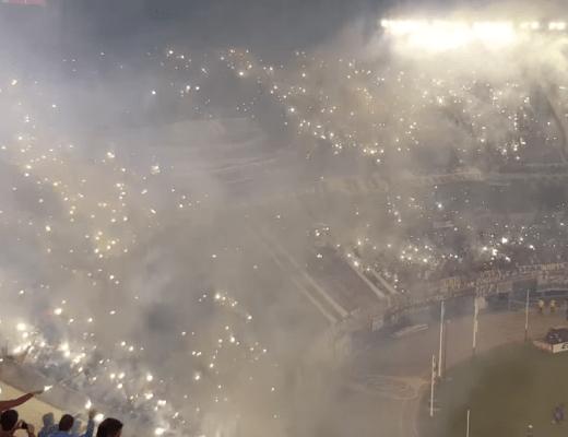 Supporters River Plate bij de Copa Libertadores 2016