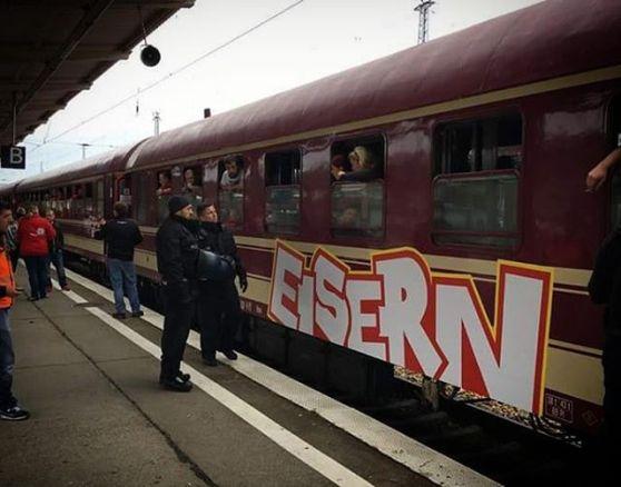 Met de Eisern Union trein naar Dortmund. Bron: Instagram