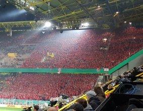 En zo ziet het plaatje voor 12.000 Union Berlin fans eruit. Bron: Twitter