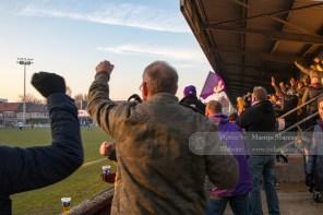 Vreugde nadat Beerschot-Wilrijk de 1-2 heeft gescoord