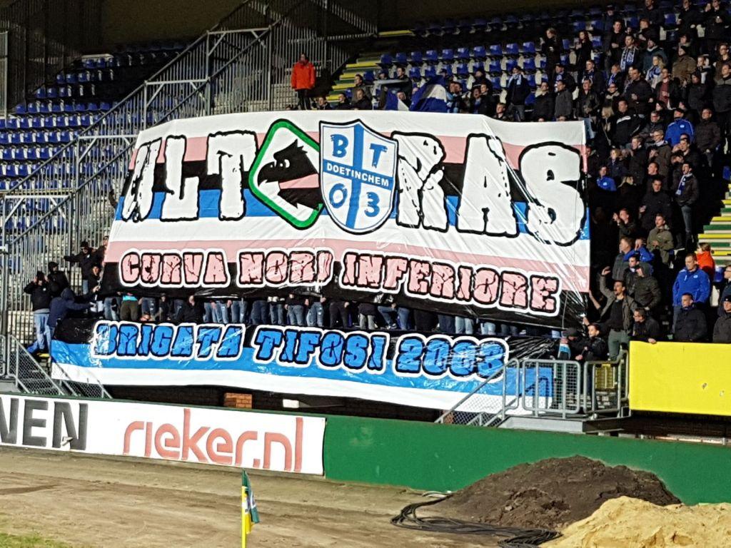 De Graafschap / Brigata Tifosi in Sittard. Foto: Onbekend