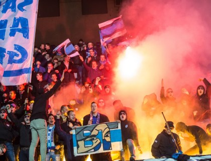 De Graafschap / Brigata Tifosi in Sittard. Foto: Pro Shots / Marcel Bonte
