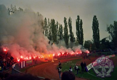 Pyro show van NK Maribor ultras