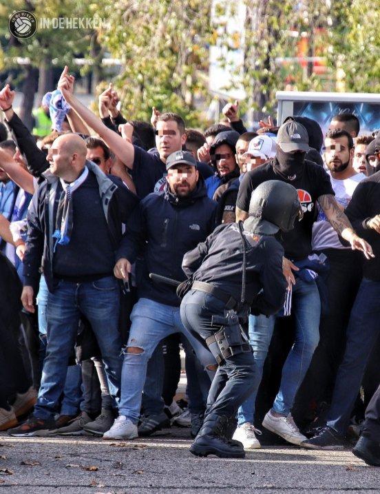 Leganes supporters komen aan in Getafe