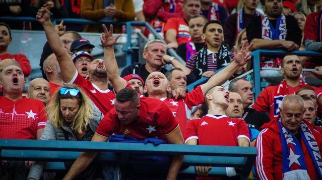 Juichende Wisla supporters