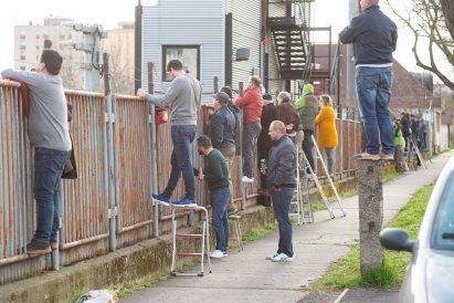 Supporters van Pécsi (derde divisie). (via ultras-tifo.net / hungaryultras.blogspot.com)